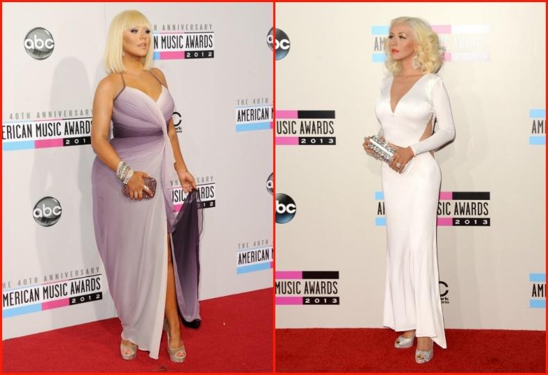 Christina Aguilera dalla taglia 46 alla 38